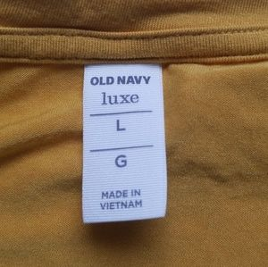 Old Navy Tops - Old Navy luxe V Neck Mustard long sleeve shirt